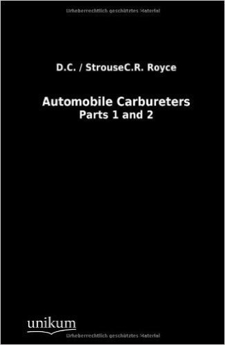 Automobile Carbureters.: Parts 1 and 2