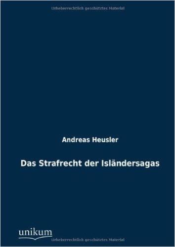 Das Strafrecht der Isländersagas